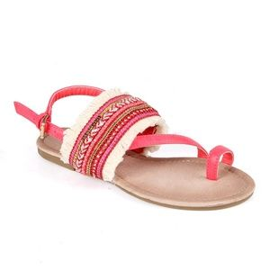 DOLLY-05 Toe Ring Women's Tribal Slingback Sandals